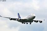 吉田高士さんが、成田国際空港で撮影したユナイテッド航空 747-422の航空フォト(写真)