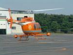 空とぶイルカさんが、群馬ヘリポートで撮影した新日本ヘリコプター 206L-3 LongRanger IIIの航空フォト(写真)