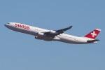 じゃがさんが、成田国際空港で撮影したスイスインターナショナルエアラインズ A340-313Xの航空フォト(写真)