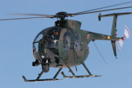 KJさんが、相馬原駐屯地で撮影した陸上自衛隊 OH-6Dの航空フォト(写真)