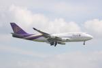 しかばねさんが、スワンナプーム国際空港で撮影したタイ国際航空 747-4D7の航空フォト(写真)