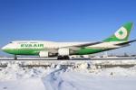 べガスさんが、新千歳空港で撮影したエバー航空 747-45Eの航空フォト(写真)