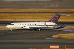 pringlesさんが、羽田空港で撮影したウェルズ・ファーゴ・バンク・ノースウェスト BD-700-1A10 Global 6000の航空フォト(写真)