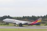 OS52さんが、成田国際空港で撮影したアシアナ航空 747-48EMの航空フォト(写真)