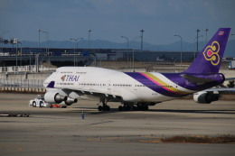 A350XWB-HNDさんが、関西国際空港で撮影したタイ国際航空 747-3D7の航空フォト(写真)
