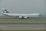 krozさんが、香港国際空港で撮影したキャセイパシフィック航空 747-867F/SCDの航空フォト(写真)