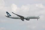 しかばねさんが、スワンナプーム国際空港で撮影したキャセイパシフィック航空 A350-941XWBの航空フォト(写真)