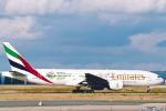 菊池 正人さんが、パリ シャルル・ド・ゴール国際空港で撮影したエミレーツ航空 777-21H/ERの航空フォト(写真)