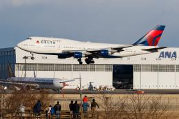 PIANOMAN777さんが、成田国際空港で撮影したデルタ航空 747-451の航空フォト(写真)