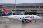 安芸あすかさんが、チューリッヒ空港で撮影したエア・セルビア A319-132の航空フォト(写真)