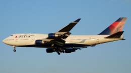Bluewingさんが、成田国際空港で撮影したデルタ航空 747-451の航空フォト(写真)