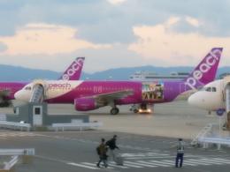 東亜国内航空さんが、関西国際空港で撮影したピーチ A320-214の航空フォト(写真)