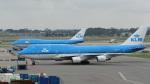 こーへーさんが、アムステルダム・スキポール国際空港で撮影したKLMオランダ航空 747-406Mの航空フォト(写真)