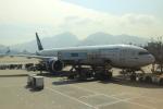 蒲田賢二さんが、香港国際空港で撮影したアエロフロート・ロシア航空 777-3M0/ERの航空フォト(写真)