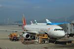 蒲田賢二さんが、香港国際空港で撮影したアシアナ航空 A321-231の航空フォト(写真)