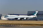 ポン太さんが、成田国際空港で撮影したキャセイパシフィック航空 747-412(BCF)の航空フォト(写真)