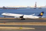 masa707さんが、羽田空港で撮影したルフトハンザドイツ航空 A340-642の航空フォト(写真)