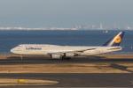 岡崎美合さんが、羽田空港で撮影したルフトハンザドイツ航空 747-830の航空フォト(写真)