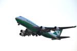 we love kixさんが、関西国際空港で撮影したエバー航空 747-45E(BDSF)の航空フォト(写真)