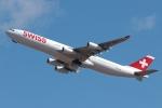 木人さんが、成田国際空港で撮影したスイスインターナショナルエアラインズ A340-313Xの航空フォト(写真)