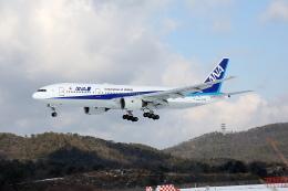 北の小人さんが、岡山空港で撮影した全日空 777-281の航空フォト(写真)