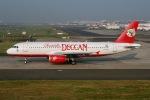 JRF spotterさんが、チャトラパティー・シヴァージー国際空港で撮影したエア デカン A320-232の航空フォト(写真)