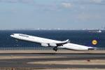 ぽん太さんが、羽田空港で撮影したルフトハンザドイツ航空 A340-642の航空フォト(写真)
