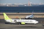 ぽん太さんが、羽田空港で撮影したソラシド エア 737-86Nの航空フォト(写真)