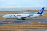 車掌さんが、関西国際空港で撮影した全日空 767-381/ER(BCF)の航空フォト(写真)