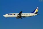 武彩航空公司(むさいえあ)さんが、羽田空港で撮影したスカイマーク 737-8HXの航空フォト(写真)