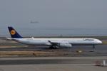 妄想竹さんが、羽田空港で撮影したルフトハンザドイツ航空 A340-642の航空フォト(写真)