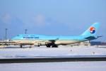 hidetsuguさんが、新千歳空港で撮影した大韓航空 747-4B5の航空フォト(写真)