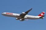 camelliaさんが、成田国際空港で撮影したスイスインターナショナルエアラインズ A340-313Xの航空フォト(写真)