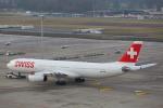 安芸あすかさんが、チューリッヒ空港で撮影したスイスインターナショナルエアラインズ A330-343Xの航空フォト(写真)