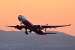 shining star ✈さんが、関西国際空港で撮影したエアアジア・エックス A330-343Eの航空フォト(写真)