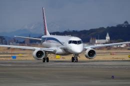 zibaさんが、名古屋飛行場で撮影した三菱航空機 MRJ90STDの航空フォト(写真)