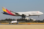 たみぃさんが、成田国際空港で撮影したアシアナ航空 747-48Eの航空フォト(写真)