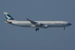 PASSENGERさんが、香港国際空港で撮影したキャセイパシフィック航空 A340-313Xの航空フォト(写真)