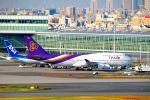 まいけるさんが、羽田空港で撮影したタイ国際航空 747-4D7の航空フォト(写真)