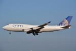 トロピカルさんが、成田国際空港で撮影したユナイテッド航空 747-422の航空フォト(写真)