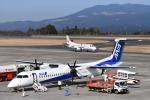 たっしーさんが、鹿児島空港で撮影したANAウイングス DHC-8-402Q Dash 8の航空フォト(写真)