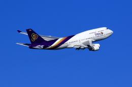 まったり屋さんが、羽田空港で撮影したタイ国際航空 747-4D7の航空フォト(写真)