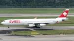 誘喜さんが、シンガポール・チャンギ国際空港で撮影したスイスインターナショナルエアラインズ A340-313Xの航空フォト(写真)