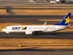 51ANさんが、羽田空港で撮影したスカイマーク 737-8FZの航空フォト(写真)