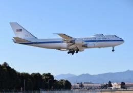 まるめさんが、横田基地で撮影したアメリカ空軍 E-4B (747-200B)の航空フォト(写真)