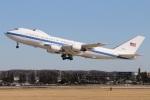 たみぃさんが、横田基地で撮影したアメリカ空軍 E-4B (747-200B)の航空フォト(写真)