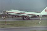 うすさんが、名古屋飛行場で撮影した日本航空 747-146の航空フォト(写真)