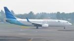 誘喜さんが、スカルノハッタ国際空港で撮影したガルーダ・インドネシア航空 737-8U3の航空フォト(写真)