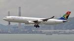 flytaka78さんが、香港国際空港で撮影した南アフリカ航空 A340-313Xの航空フォト(写真)