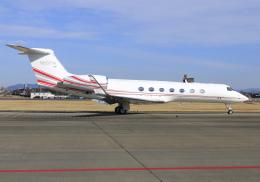 RA-86141さんが、名古屋飛行場で撮影したアメリカ個人所有 G-V-SP Gulfstream G550の航空フォト(写真)